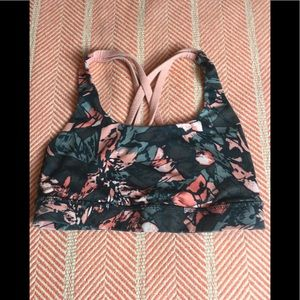Lululemon Athletica peach & grey print bra